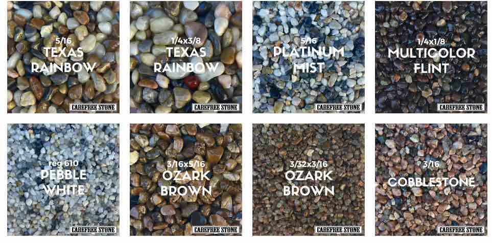 pebble stone samples 1